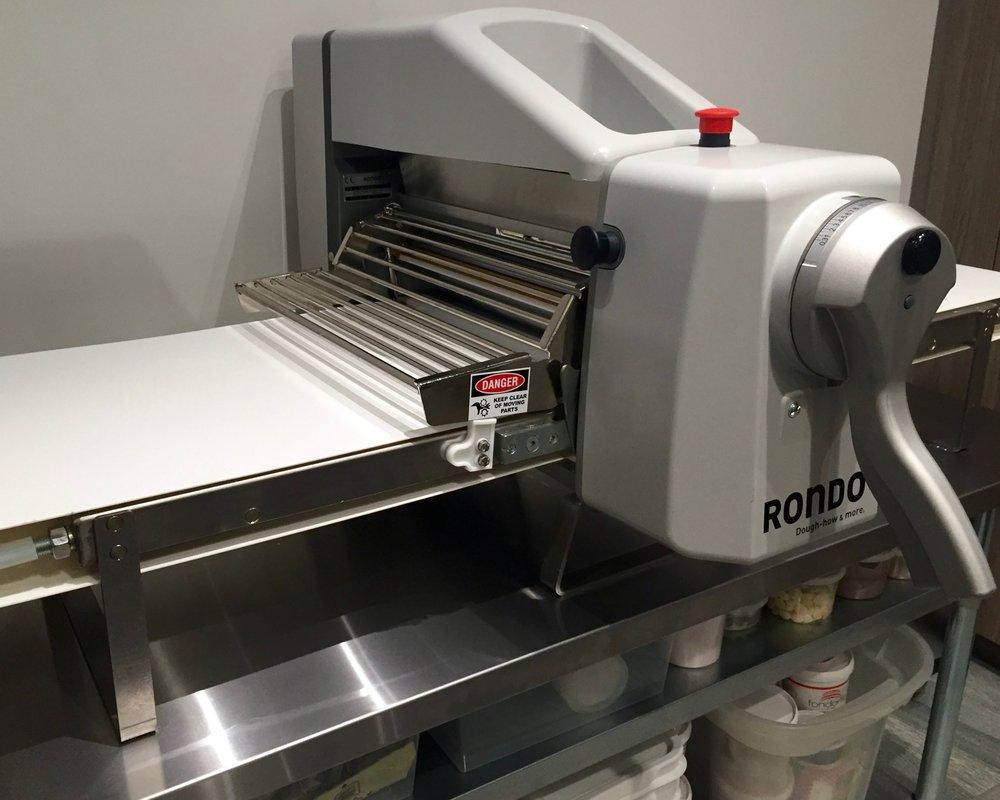Rondo sheeter in kitchen studio