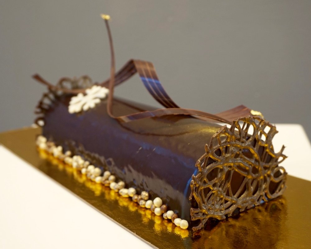 Buche de noel made by Gusta Cooking Studio
