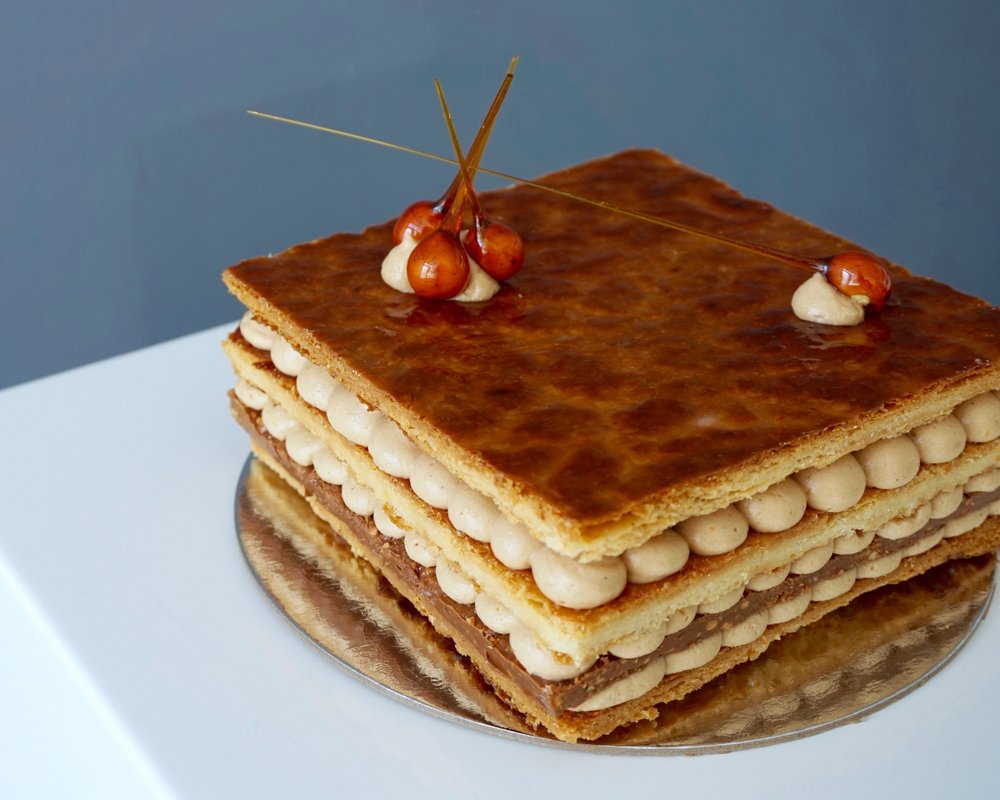 Millefeuille made by Gusta Cooking Studio