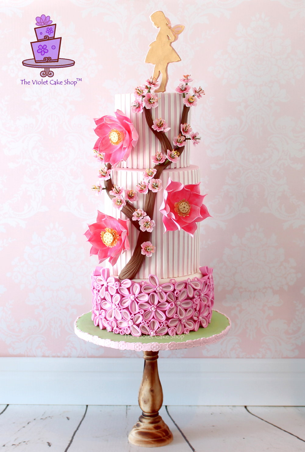 """Pink Garden Fairy Cake"" Class at Gusta Cooking Studio by Violet Lin Tran"