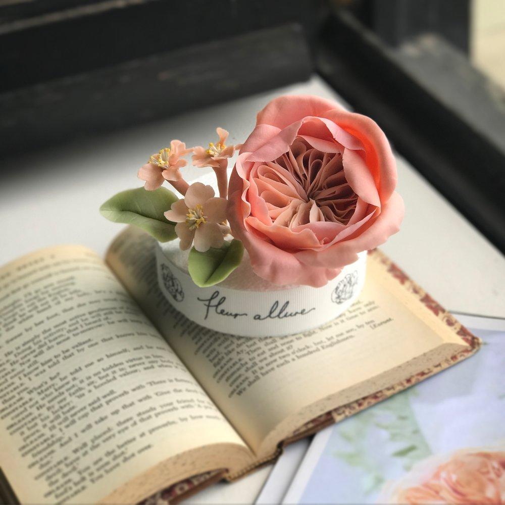 Bean Paste Juliet Rose, Cherry Blossom with Fleur Allure