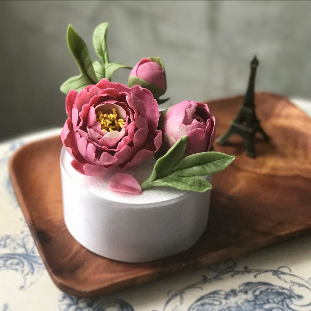 Bean Paste Peony Set with Fleur Allure