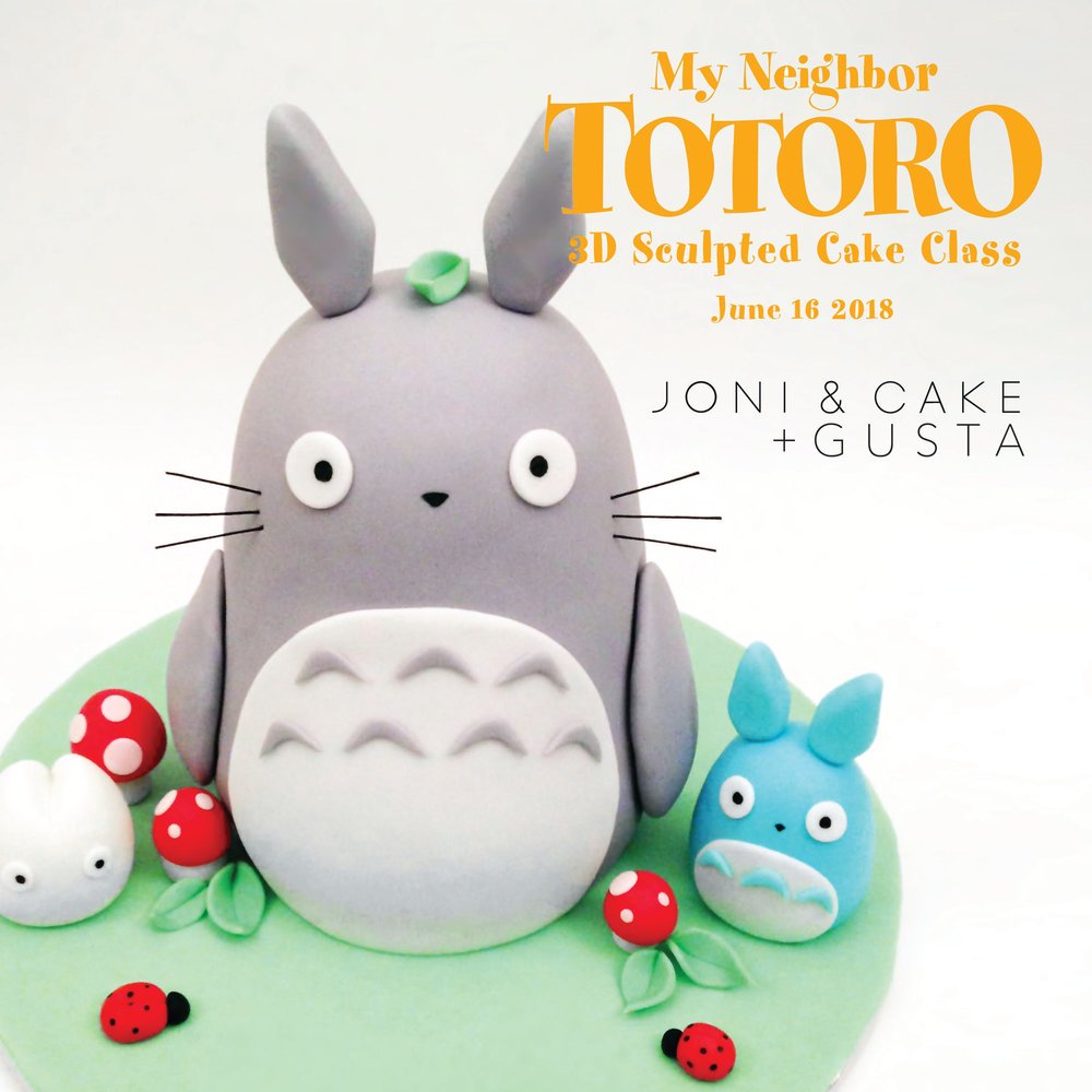 Totoro Sculpted Cake Decorating Class at Gusta Cooking Studio by Joni & Cake