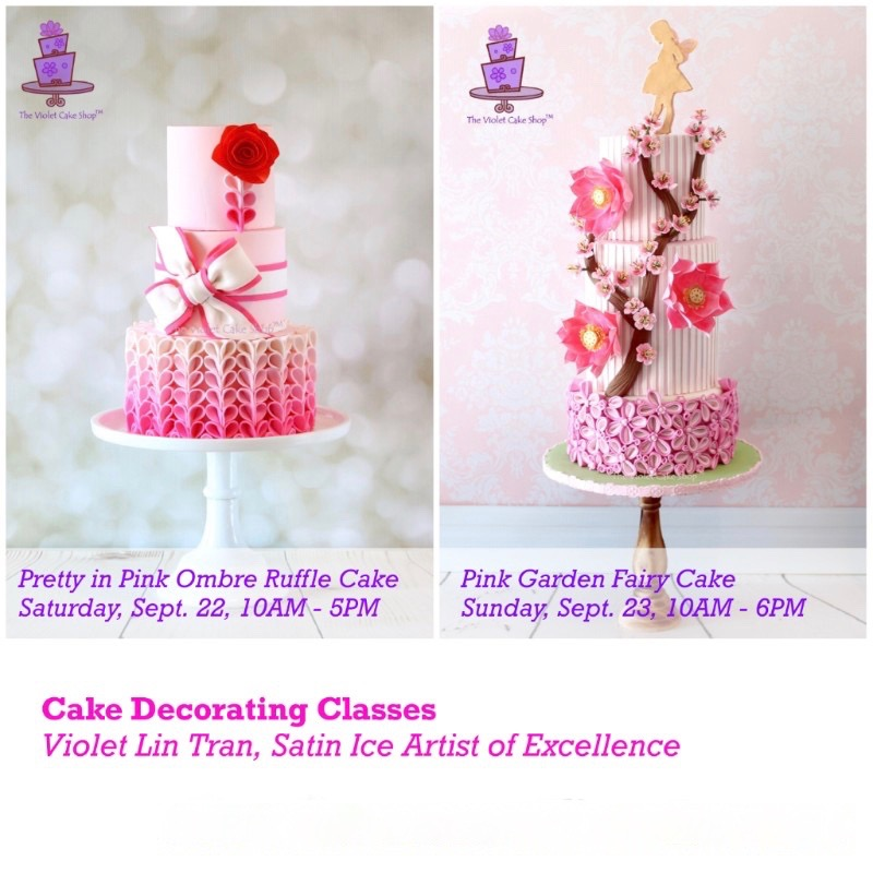 Violet Lin Tran's Cake Decorating Class at Gusta Cooking Studio