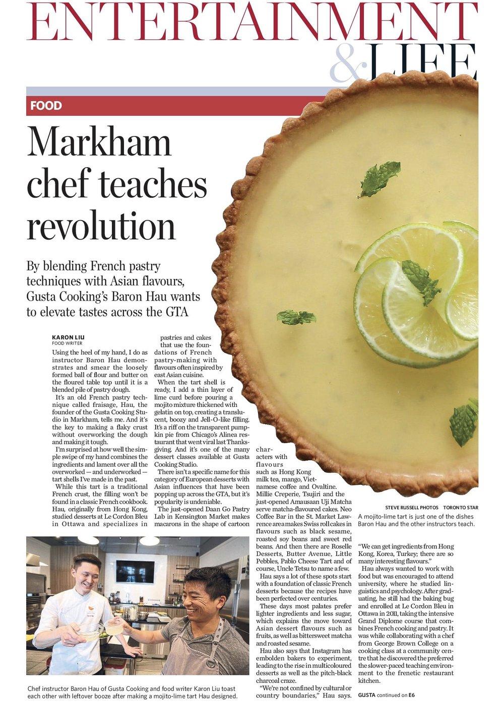Gusta Feature on Toronto Star