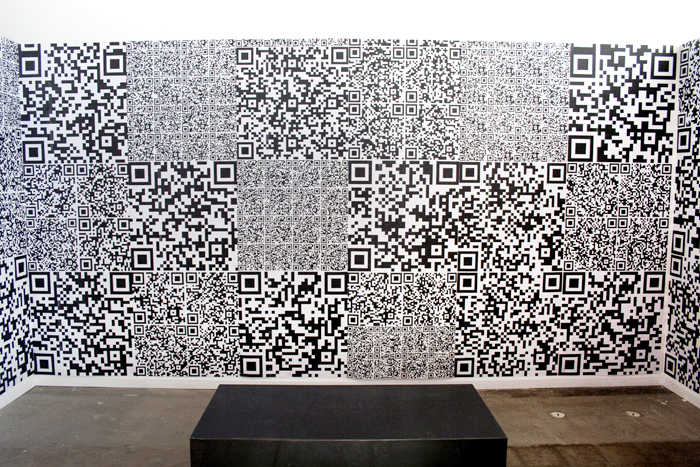 QR Atlas, wheat paste installation, 2012