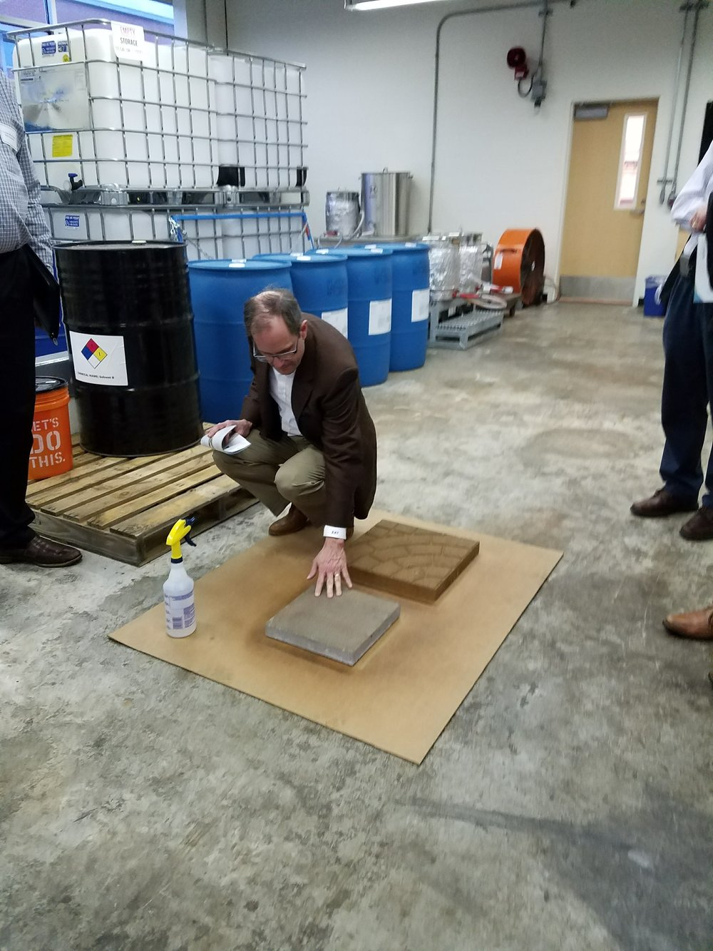 Dr. Kent M. Young  (Senior Director of Technology) of SHERWIN-WILLIAMS impressed with the drying times of our sealers.