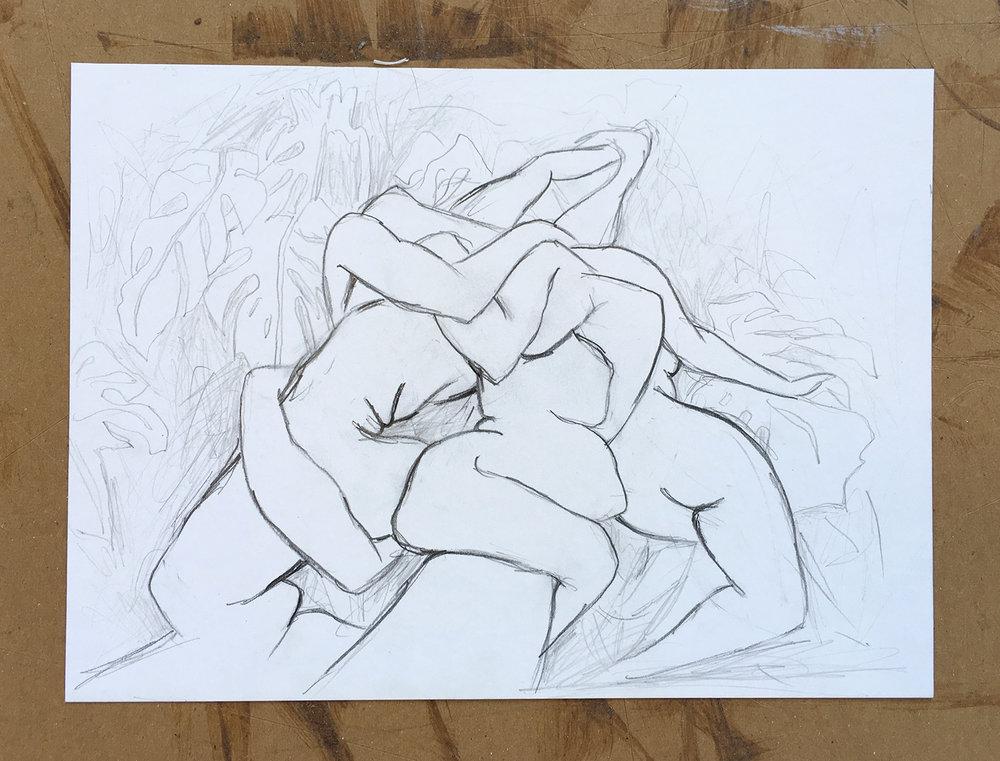 Three Graces Drawing