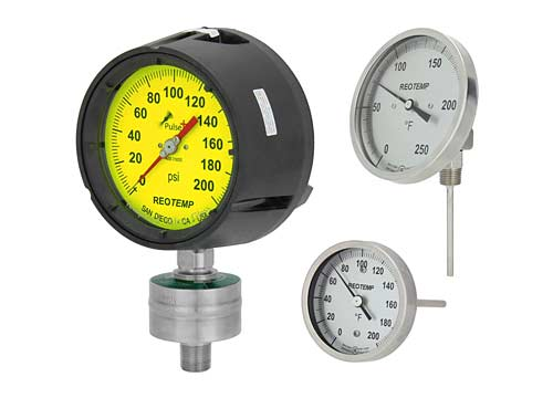 Pressure and Temperature Gauges -