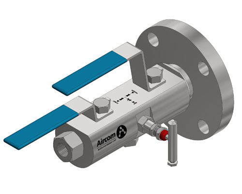 Flange by Thread Double Block and Bleed Ball-Needle-Ball Valve -