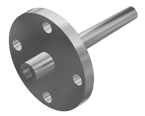 "Flanged Tapered 0.260"" Bore Thermowell Model F24 (PDF) -"