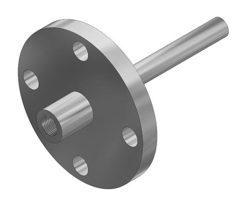 "Flanged Straight 0.260"" Bore Thermowell Model F22 (PDF) -"