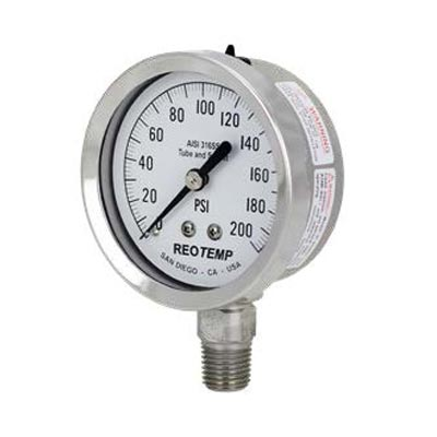 "2.5"" to 3.5"" Stainless Steel Pressure Gauge (PDF) -"