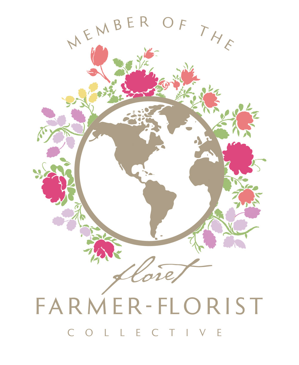 WE ARE A PROUD MEMBER OF THEFLORET FLOWERS COLLECTIVE - Established in 2008, the Floret Flowers Collective is a flower movement and an inclusive global directory committed to growing, buying and promoting local flowers. Although separated by many miles, we are kindred spirits united in a love of local, seasonal flowers. Every member of the Collective has pledged to highlight local, seasonal flowers and use sustainable growing and business practices whenever possible. We encourage you to connect with and support these committed, passionate artisans in your community.