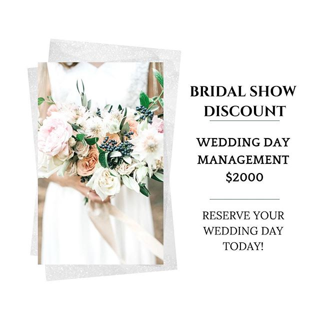 Less than a week away to @ylsbridalexpo at the West Chester Quality Inn & Suites Conference Center! Come meet me on March 3rd from 10AM to 2PM. Reserve your wedding day before the expo ends for the discount!  #phillyweddingplanner