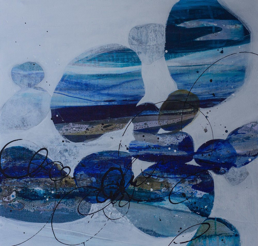 """River Rock Blue"" 20x20"