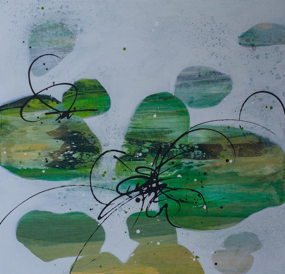 """River Rock Green"" 20x20"