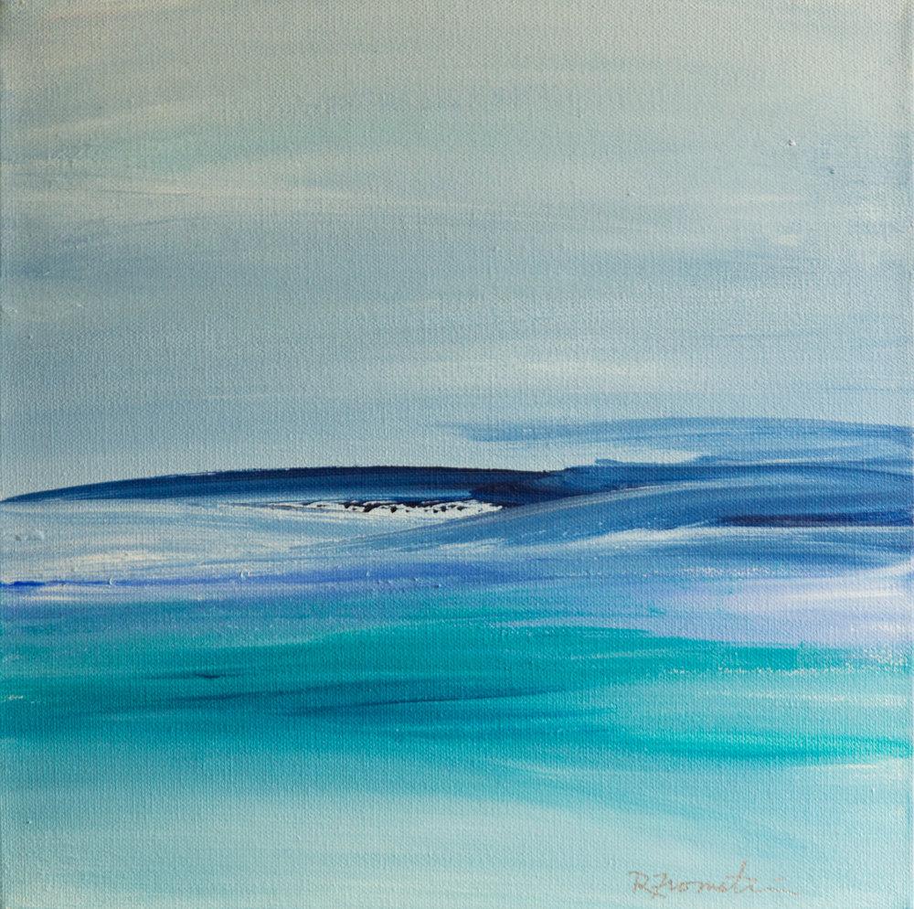 """Blue Horizon I"" 12x12"