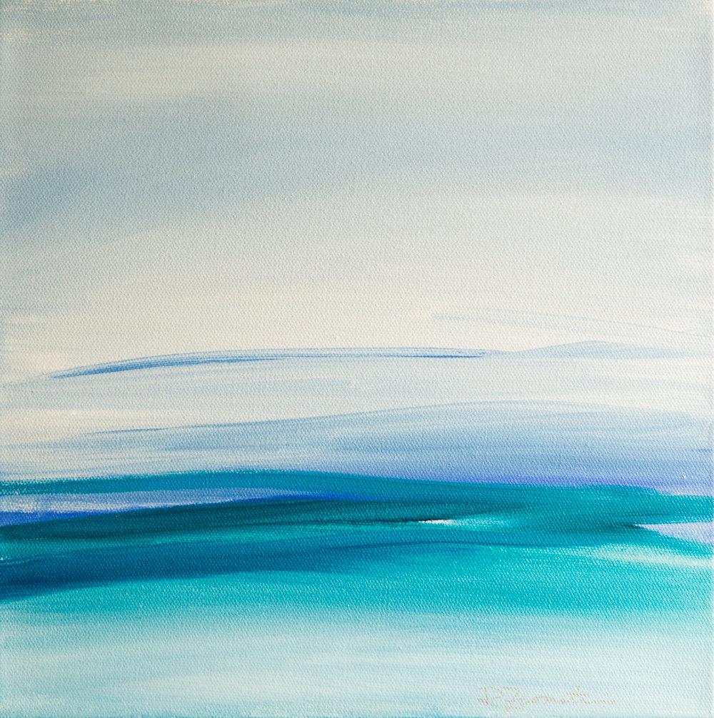 """Blue Horizon II"" 12x12"