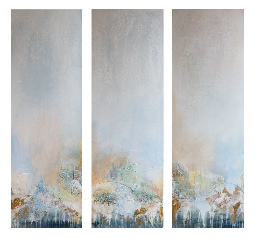 """Unexpected View I, II & III"" 12x36 (each panel)"