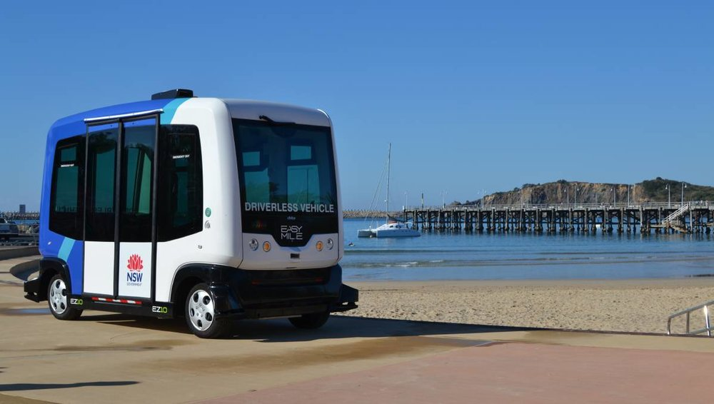 FUTURE: You'll be seeing one of these vehicles around Newcastle's scenic areas soon.