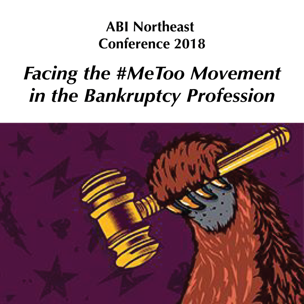 Facing the #MeToo Movement in the Bankruptcy Profession - Purple Campaign President Ally Coll Steele joined Judge Joan Feeney, Proskauer Rose LLP Partner Mark Batten, Holland & Knight Partner Paul Lannon, and Cooley LLP Partner Cathy Hershcopf for a panel about #MeToo in the bankruptcy profession at American Bankruptcy Institute's Northeast Summer Conference.