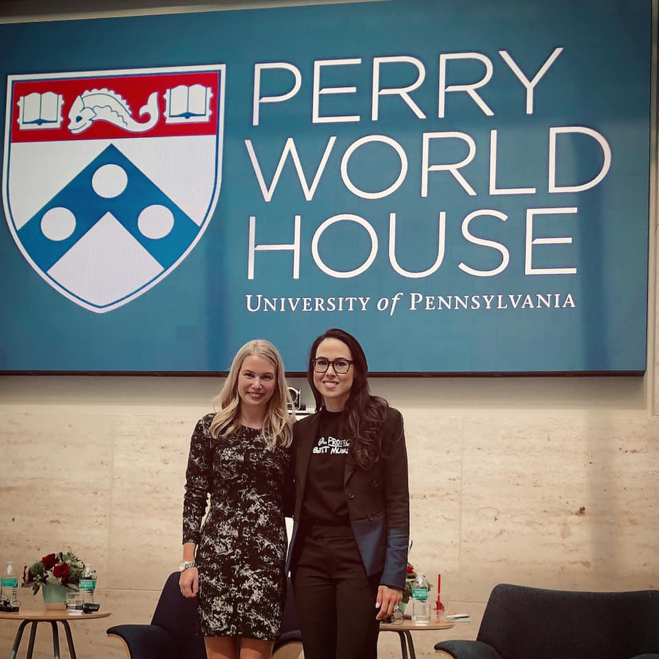 Fireside chat with Meena Harris - In the wake of the Kavanaugh confirmation hearings, Purple Campaign President Ally Coll sat down with Phenomenal Woman Action Campaign Founder, Meena Harris at Penn Law School for a discussion on #MeToo and the Supreme Court.