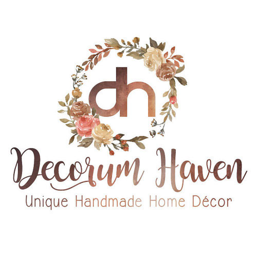 Decorum Haven   All items are handmade with great craftsmanship and a lot of thought and time goes into each piece. I only create items I would be happy to have in my own home. Our goal is to ensure your full satisfaction and to bring smiles to peoples faces.   https://www.etsy.com/shop/decorumhaven