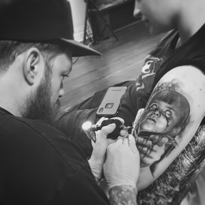 "Brian Eberle ""Berle"" - Specializing in Black & Grey Realism/Surrealism art style tattooing!Tattooing since 2008.email Brian for appointments at BrianEberle66@gmail.comInstagram @BrianEberleTattoosFacebook.com/BrianEberle"