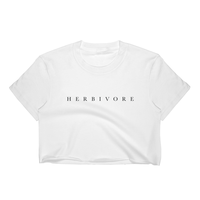 Herbivore Shirt - $21 - Herbivore Woman's Tee - Cropped TopFine Jersey Short Sleeve Cropped T-Shirt w/ Herbivore LabelAvailable Sizes: Small, Medium, Large, X-Large