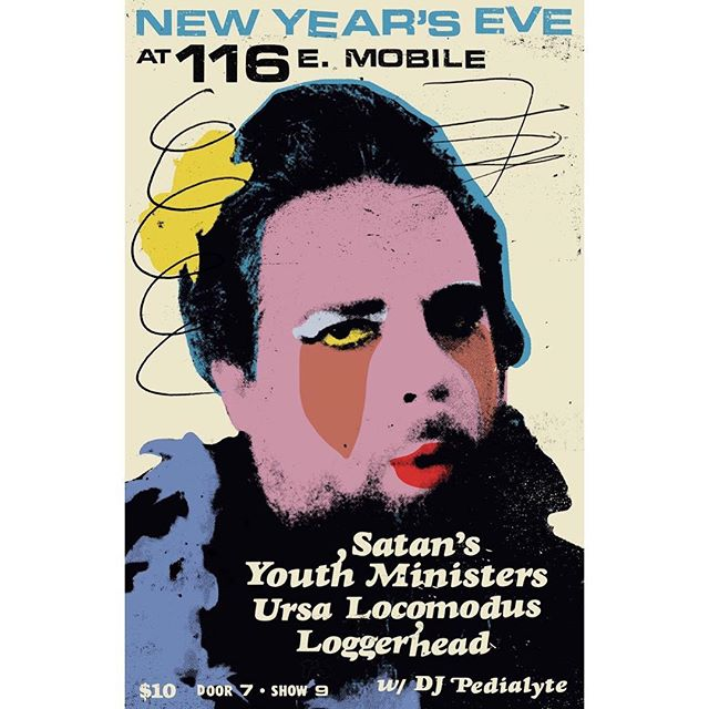 Just announced: the final show, NYE, with Satan's Youth Ministers, Ursa Locomodus, and @avast.loggerhead! DJ Pedialyte spins records to get the party going. Doors at 7, $10! Tickets on sale now at the link in our bio!