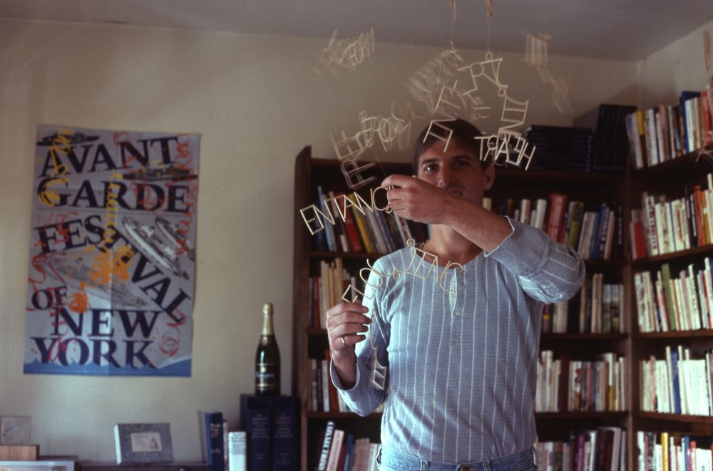 Payack in his study with his Poetry Mobile. (1982)