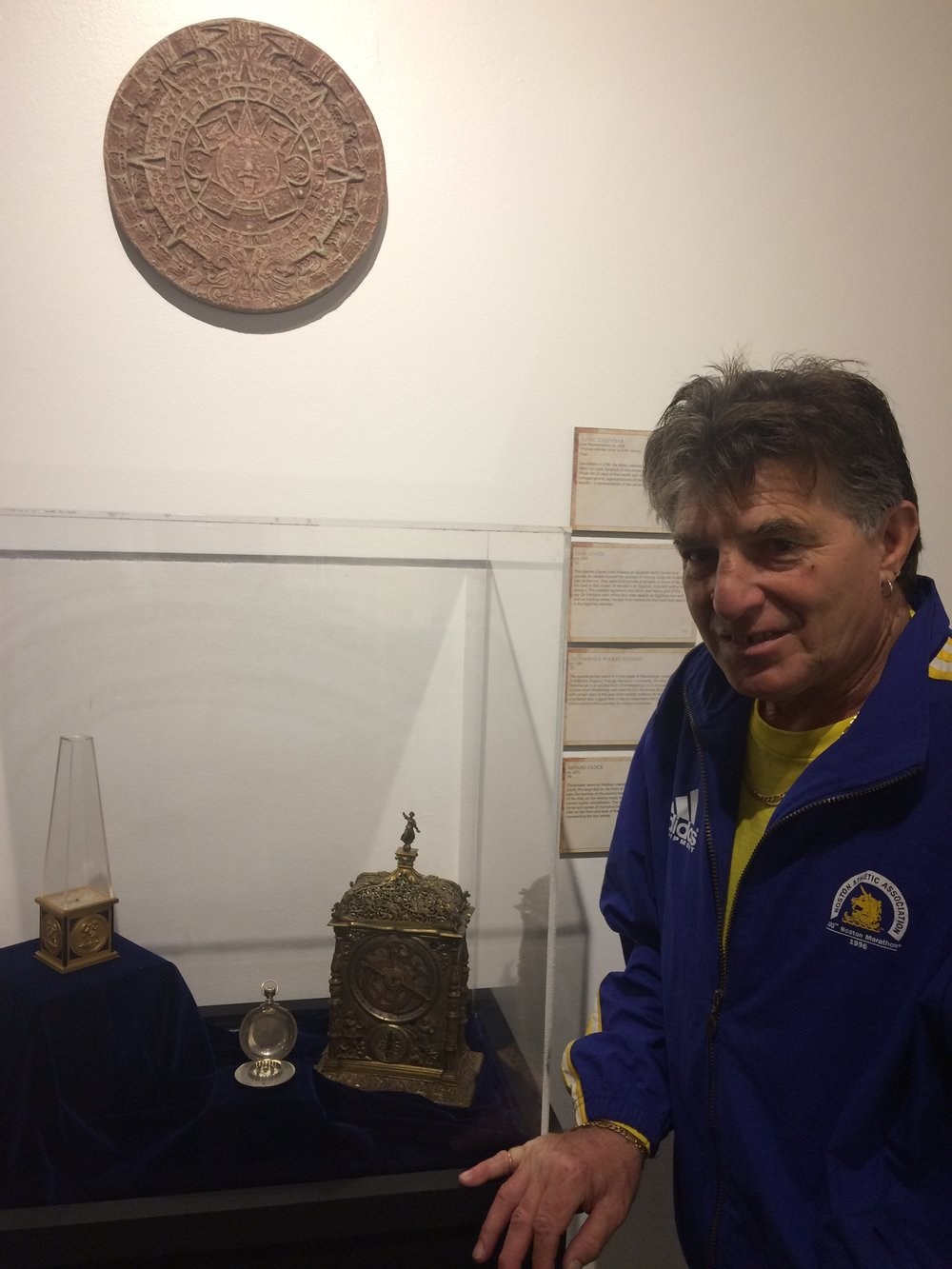 "Peter Payack with The Stonehenge Watch™ at the National Watch and Clock and Watch Museum where the watch was the main exhibit of its ""Sacred Time"" exhibit."