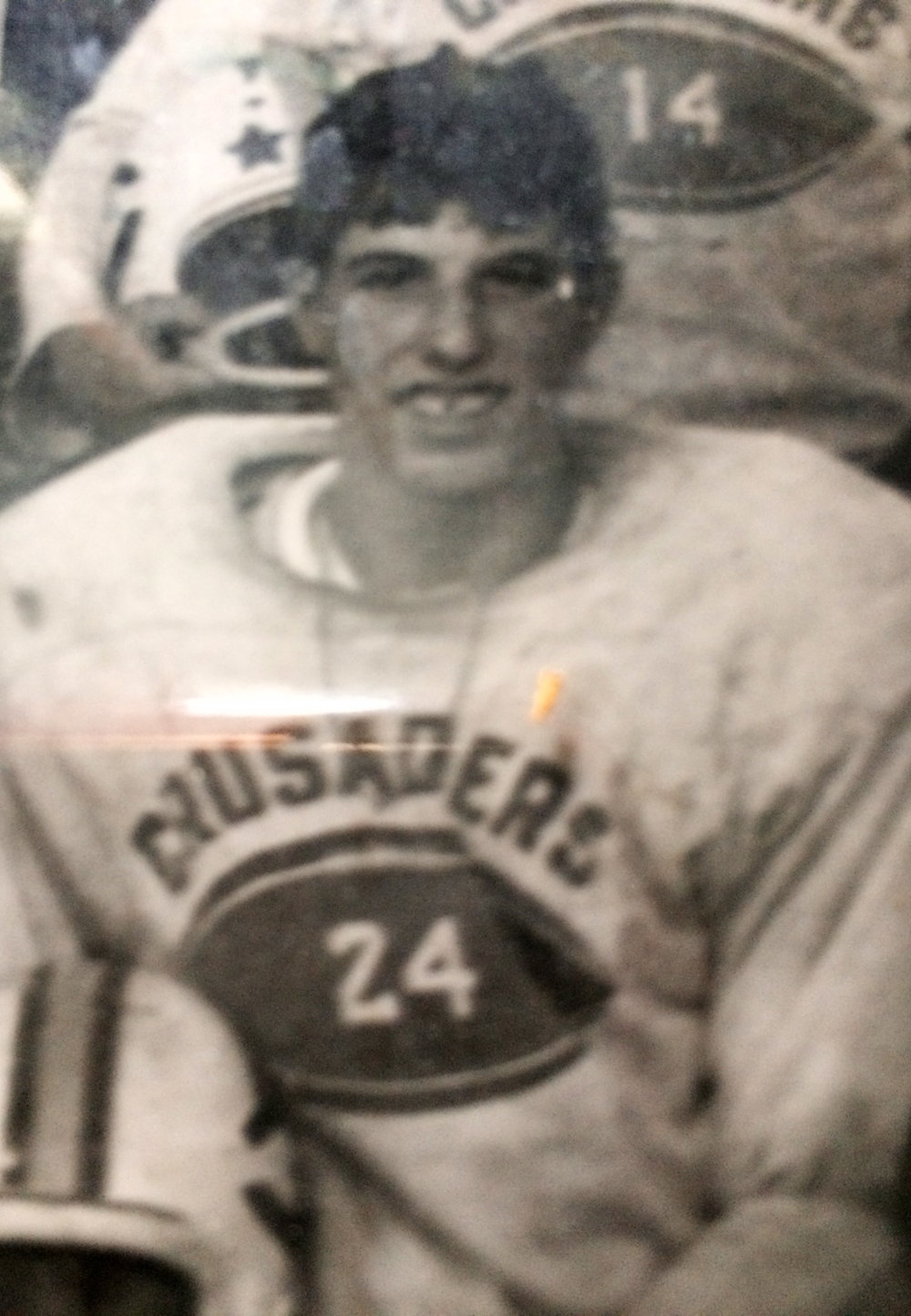 Peter Payack as a halfback of his high school football team in 1966.
