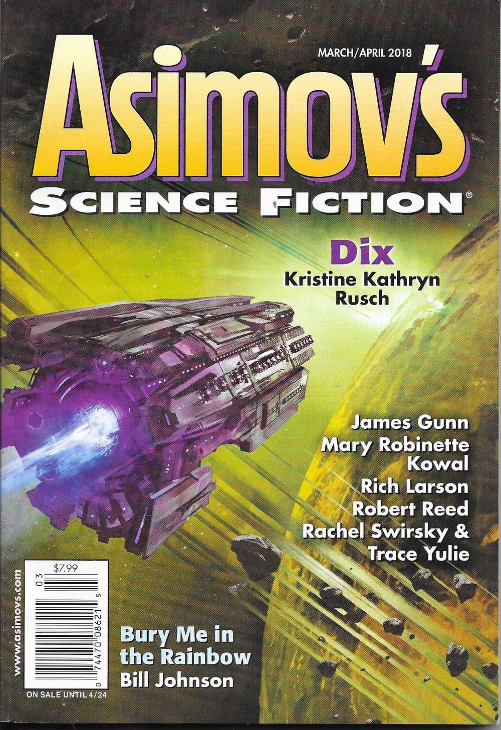 Asimov's March/April 2018 Issue
