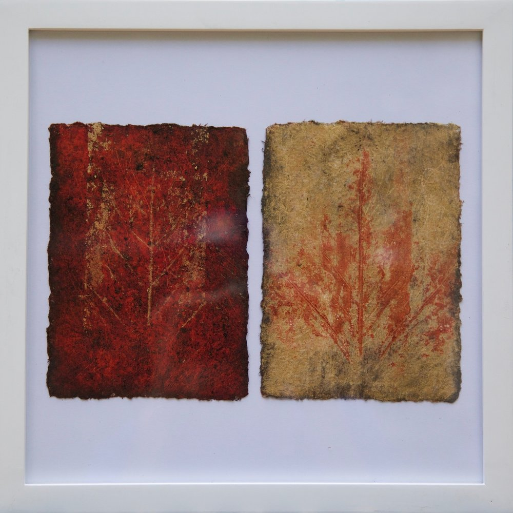 Correspondence in red and gold