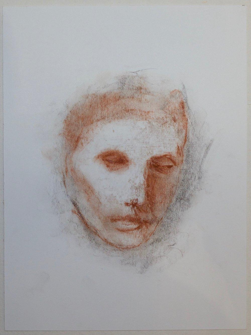 Conte crayon  9 x 12