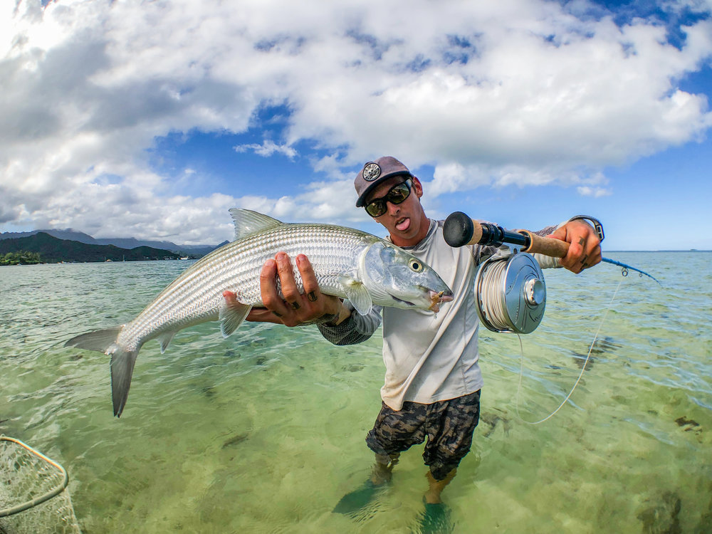 @polar_jear  with a ghosty bonefish (the Session Reel is in a 7-wt setup here).