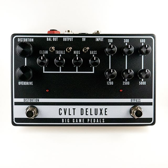 There will be a few up later this week and a couple more in the next few weeks. If you want to reserve one shoot me an email or dm. They will be shipped immediately after order so no waiting. Domestic US orders only for now. Sorry... #biggamepedals #cvltdeluxe #peaveycult #f800 #guitarpedals #basspedal