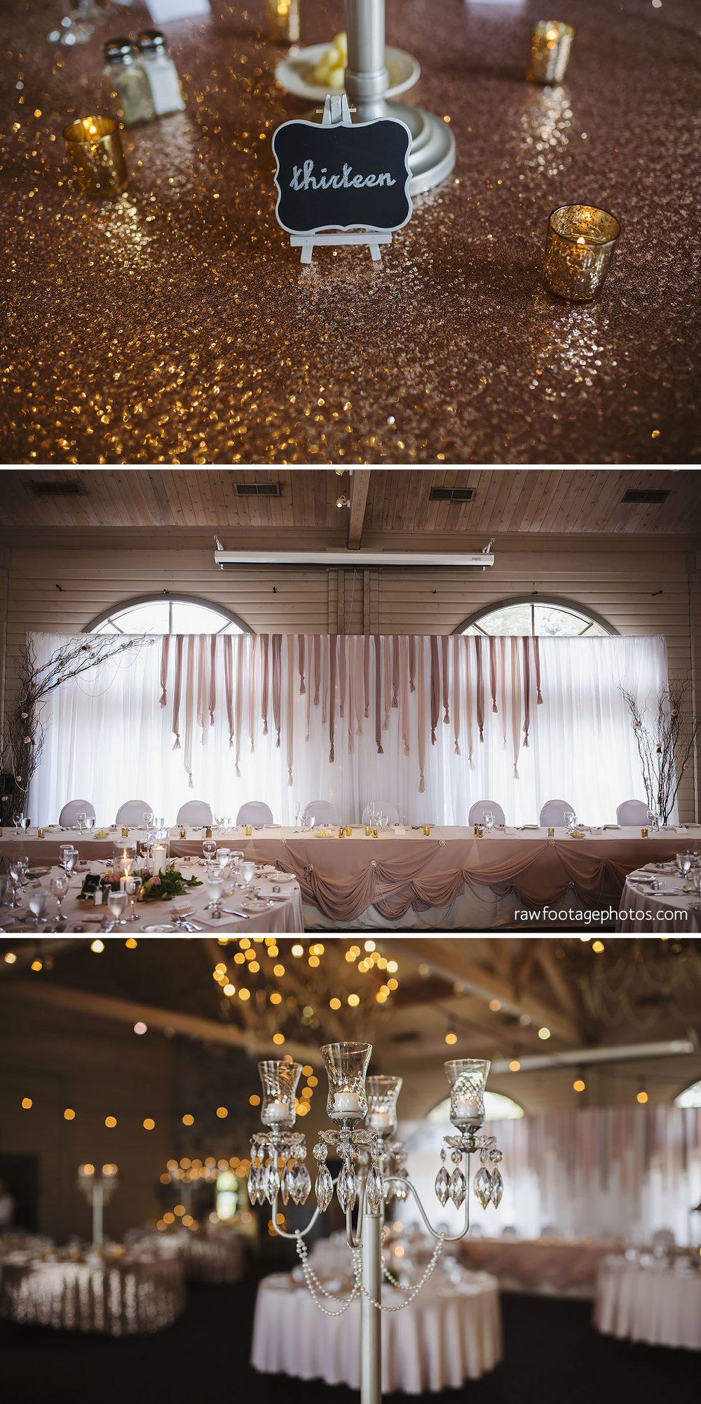 Reception Details by Above & Beyond Event Design at Oakwood Resort