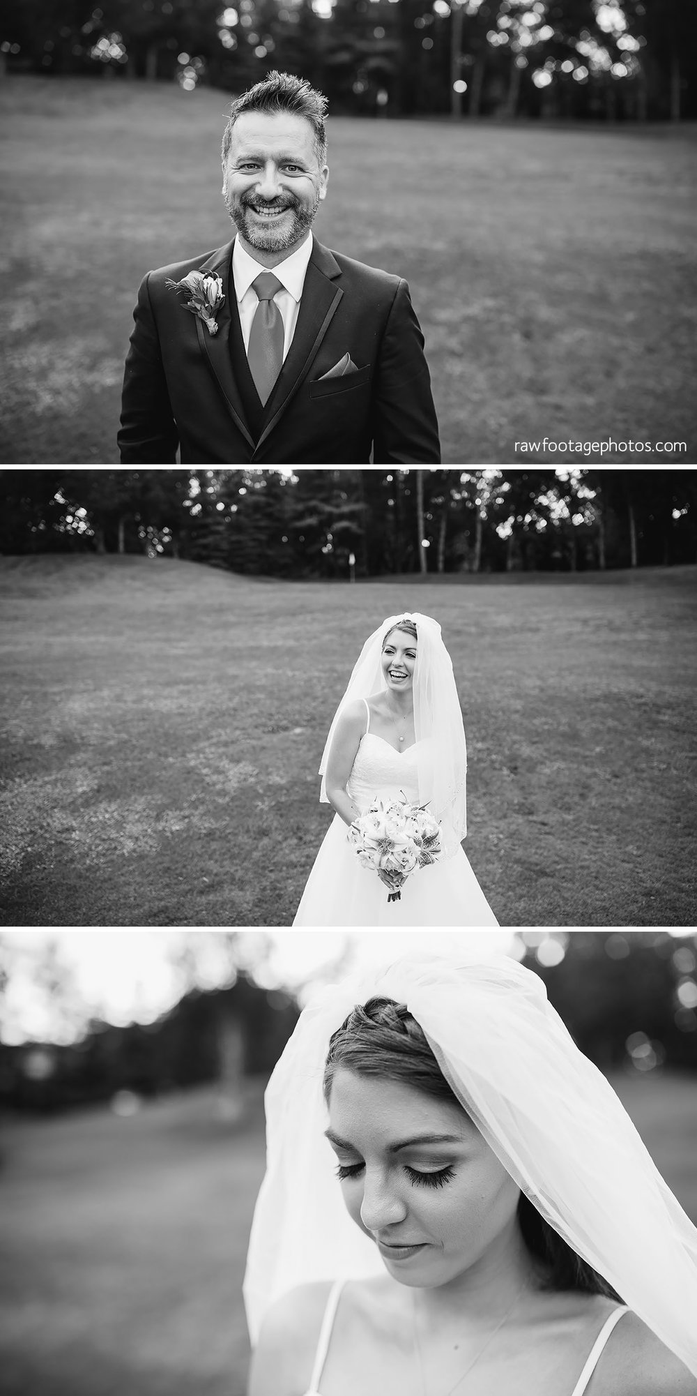 Rainy Wedding Portraits at Oakwood Resort