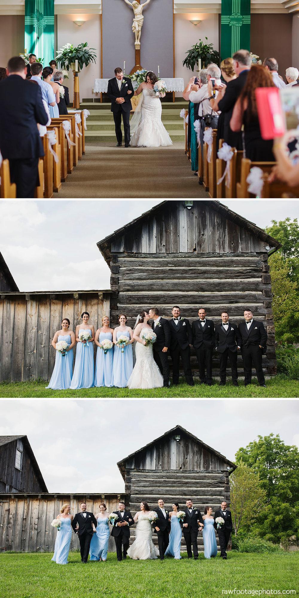 Holy Cross parish Ceremony | Fanshawe Pioneer Village Wedding Portraits