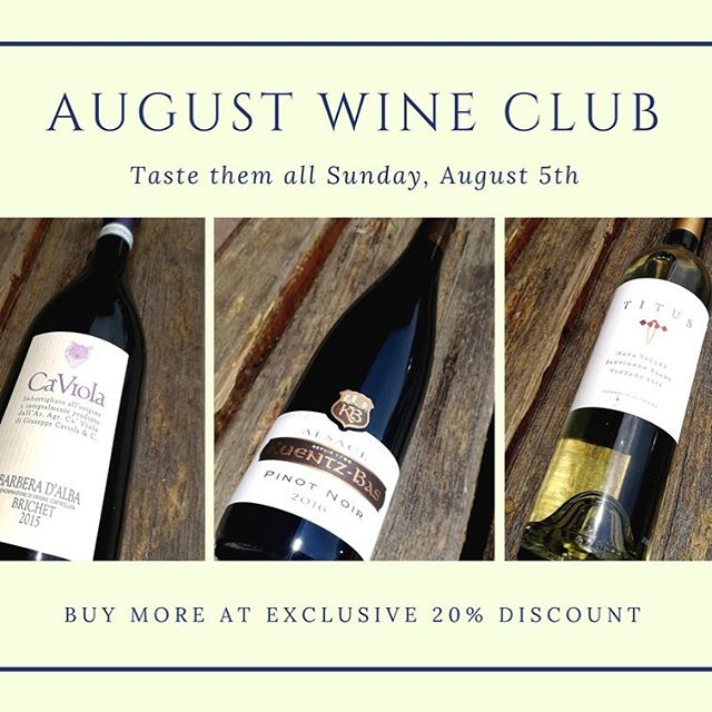 Sunday Funday All Day!! This Sunday, August 5th, we will be pouring August wine club wines all day. Stop in any time between 12pm and 8pm to pick up your wine club, meet other members, sip on delicious wine, and take advantage of your exclusive 20% discount on the August club allocation. #kuentzbas #pinotnoir #titus #sauvignonblanc #wine #wineo #wineclub #wineclubmembers #sundayfunday #sundayvibes #uncorked #truckee #tahoe #tahoecity #squawvalley #petranorthstar #northstar #cheers