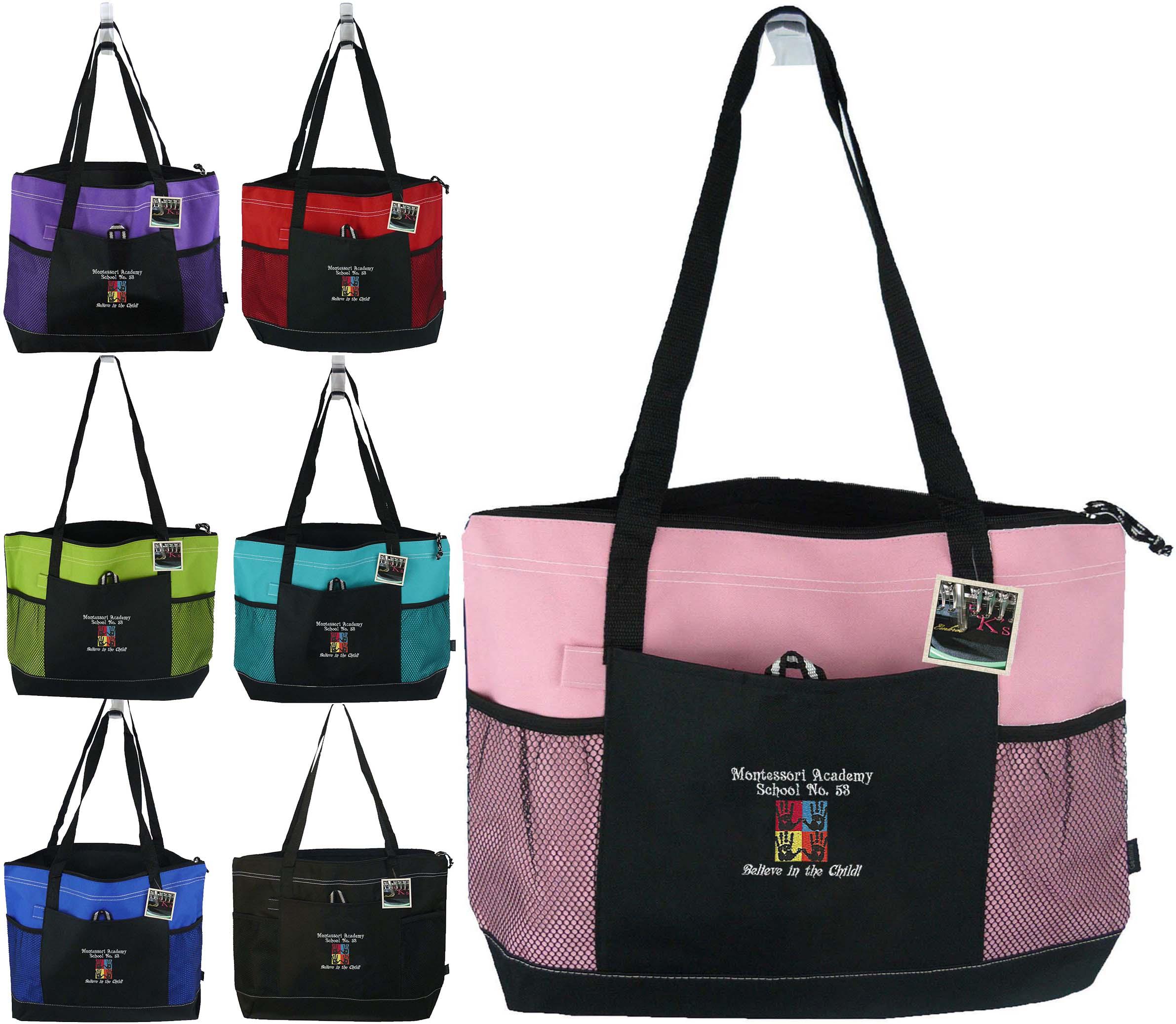 75dc2d7a92a Montessori Academy Gemline Select Zipper Tote Bag — RK's Boutique