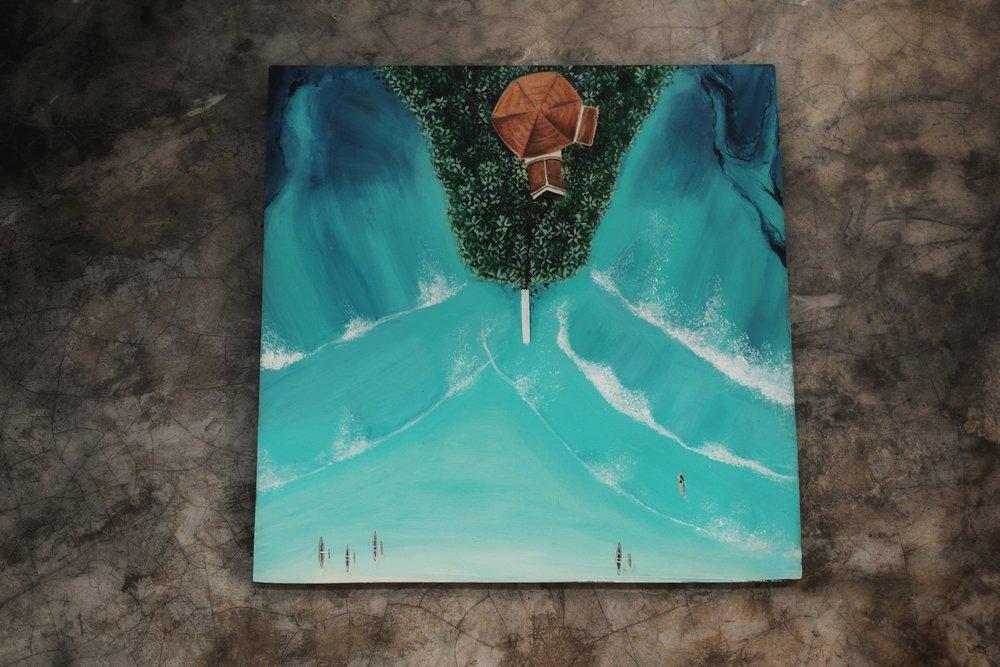 50 x 50 cm    Weligama Island    SOLD