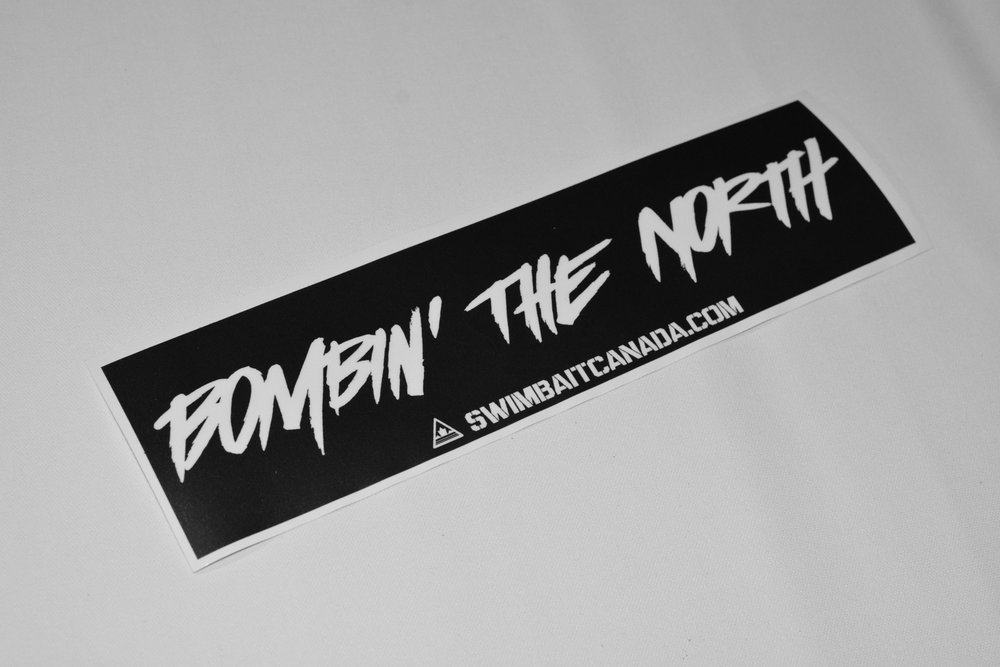 swimbait canada bombing the north sticker