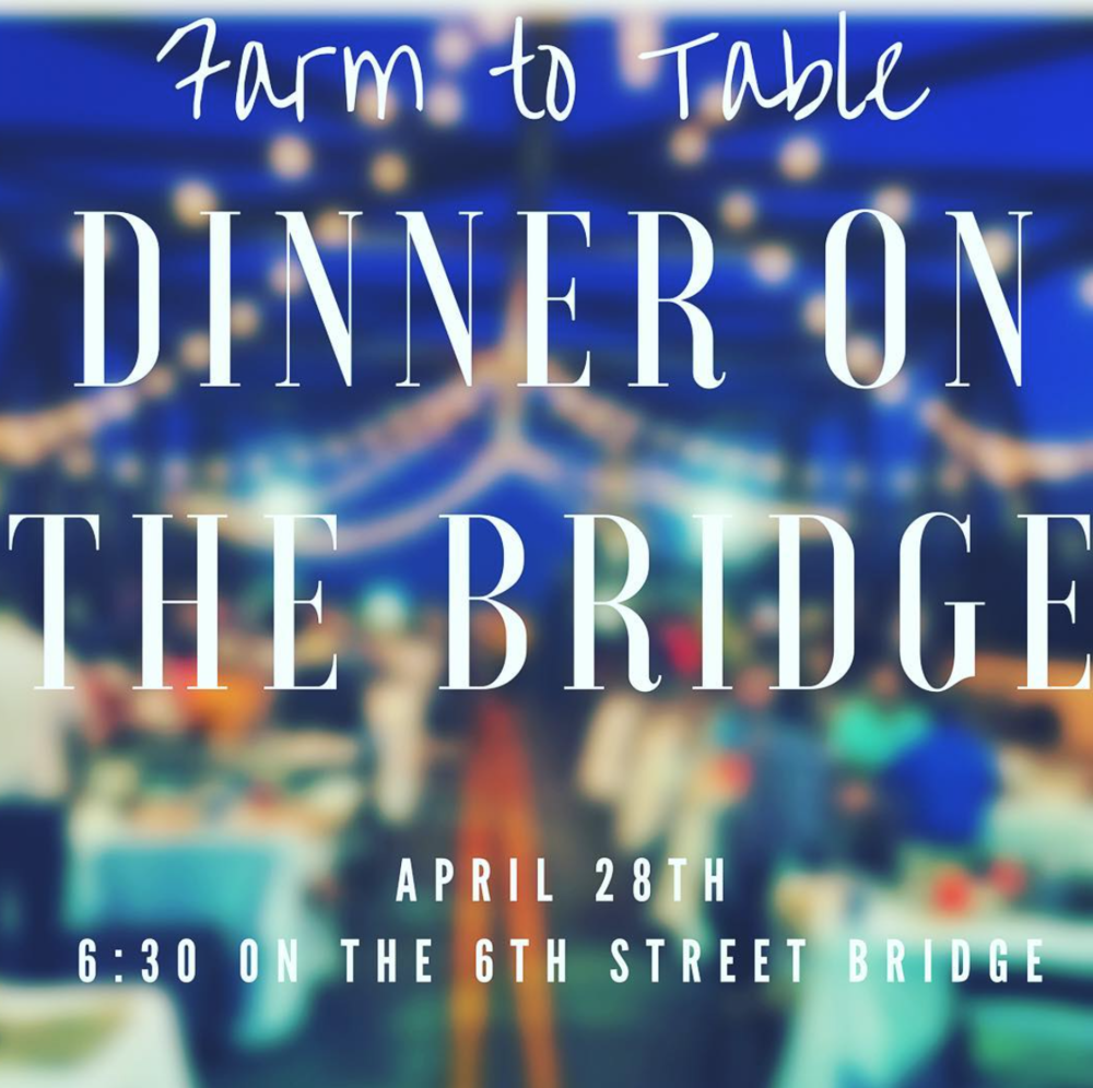 Serve With Us! - On April 28th The Griffin Downtown Council is putting on a Farm to Table Dinner on the Bridge. It's going to be awesome! They will be closing down the 6th Street bridge, setting up tables, and putting a farm to table meal together for 300+ people as a fundraiser, and they need our help. We need volunteers to help set up, serve, and help with clean up. This will be one of our first impressions with the city so it is so important that we show up strong, and it will be a great chance to meet people and serve the city. We are still figuring out times and shifts but if you are available to serve that day please click on the link below to sign up!