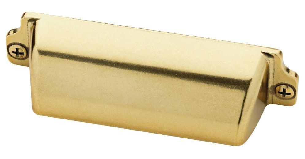 Bedford Brass Cup Drawer Pull by Martha Stewart Living for Home Depot