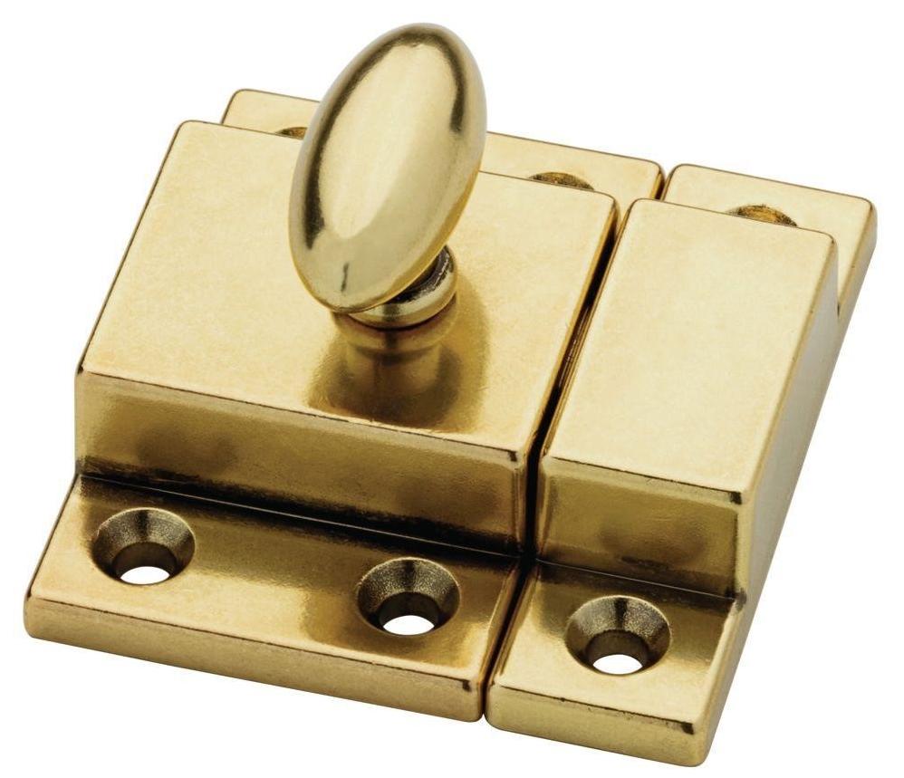 Bedford Brass Matchbox Door Latch by Martha Stewart Living for Home Depot