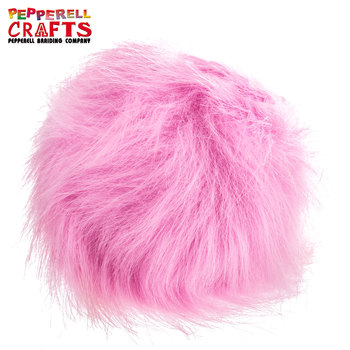Faux Fur Pom (Pink) from Hobby Lobby